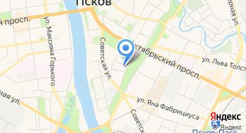 Псковский кузнечный двор на карте