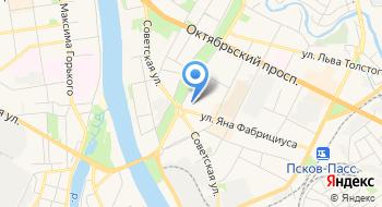 Межрайонная ИФНС России №1 по Псковской области (ТОРМы) на карте