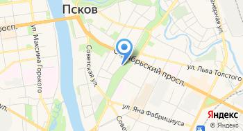 Управление Федерального казначейства по Псковской области на карте
