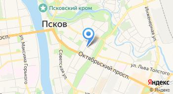 Следственное управление Следственного комитета РФ по Псковской области на карте