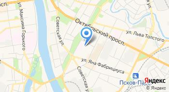 Псковские тепловые сети, МП на карте