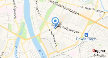 Отделение почтовой связи Псков 180017 на карте