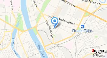 УМВД России по г. Пскову на карте