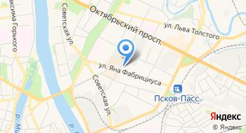 Хостел Древний Псков на карте