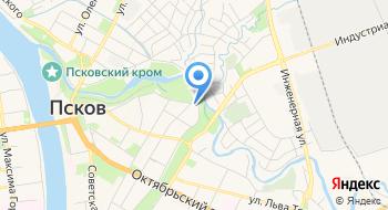 УФК по Псковской области на карте
