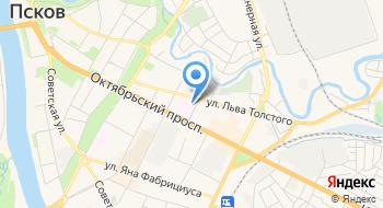 Больница УВД Псковской области на карте