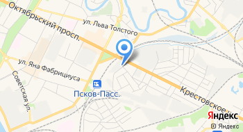 Псковский городской молочный завод на карте