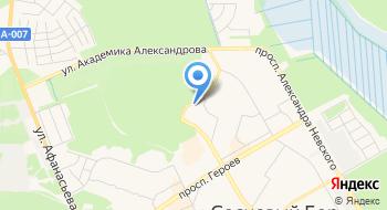 Отделение почтовой связи Сосновый Бор 188542 на карте