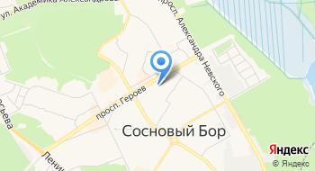 Такси Сосновый Бор на карте
