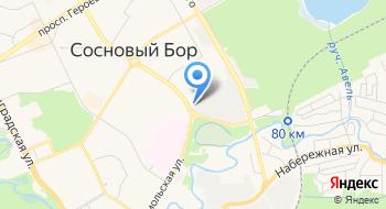 Отделение УФМС России по Санкт-Петербургу и Ленинградской области в г. Сосновый Бор на карте