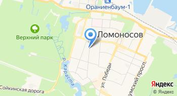 Центр физической культуры, спорта и здоровья Петродворцового района города Санкт-Петербурга на карте