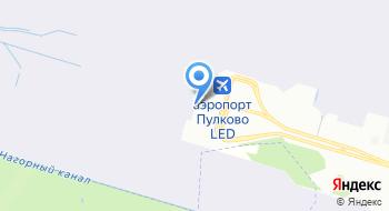 VIP-зал Пулково на карте