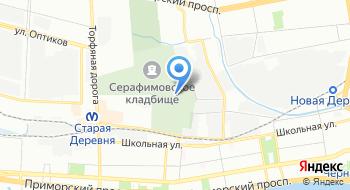 Серафимовское кладбище на карте