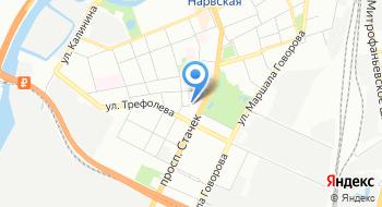 Пожарно-спасательный отряд по Кировскому району города Санкт-Петербурга на карте