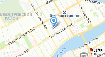 Районное подразделение ГБУ Горжилобмен, Василеостровский райжилобмен на карте