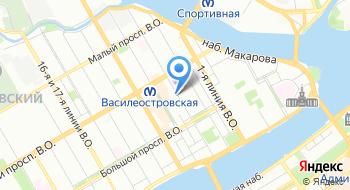 Еврейский центр на Васильевском острове на карте