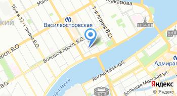 Прокуратура Василеостровского района Санкт-Петербурга на карте