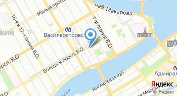 Василеостровский рынок на карте