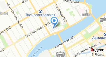 Следственный отдел по Василеостровскому району на карте