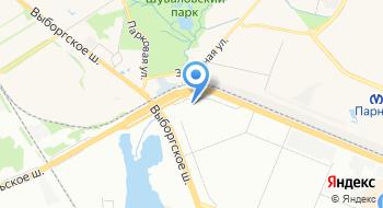 Трасса-СПб. РФ на карте