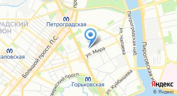 Администрация Петроградского района Санкт-Петербурга на карте