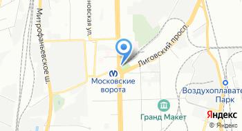 Отдел ФКУ Военного комиссариата города Санкт-Петербурга по Московскому району на карте