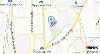 Новодевичье кладбище на карте