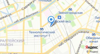 Риац Питер-Т Алексея Днепрового на карте