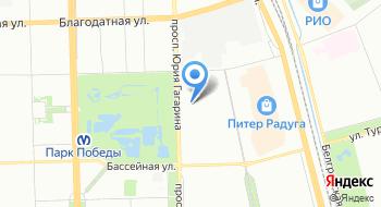 Петербургский спортивно-концертный комплекс на карте
