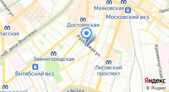 Хостел BedAndBike Dostoevskogo на карте