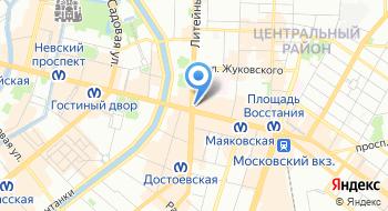 Антикварно-букинистический магазин на Литейном на карте