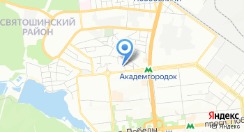 Автостанция Киев-Малин на карте