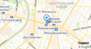 Санкт-Петербургский центр визирования на карте