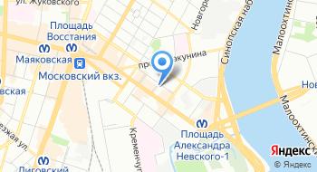 Нотариальная палата г. Санкт-Петербурга на карте