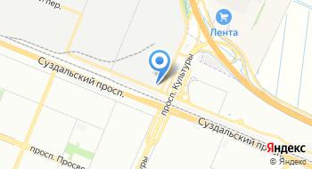 Северный таможенный пост Санкт-Петербургской таможни на карте