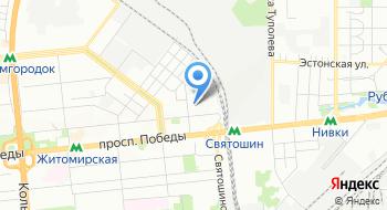 Управление Государственной казначейской службы Украины в Святошинском районе г. Киева на карте