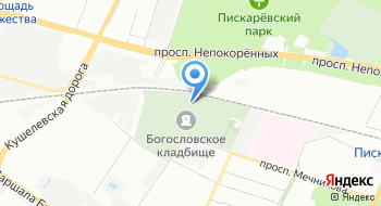 Богословское кладбище на карте