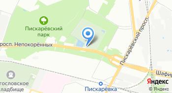 Пискарёвское мемориальное кладбище на карте