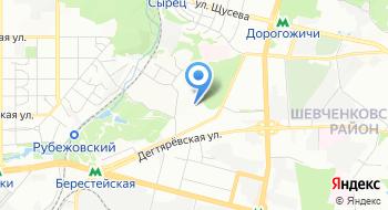 Киевская детская железная дорога на карте
