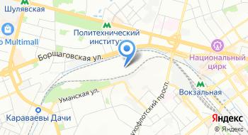 Вагонный участок станции Киев-Пассажирский на карте