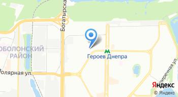 Управление Государственной казначейской службы Украины в Оболонском районе г. Киева на карте