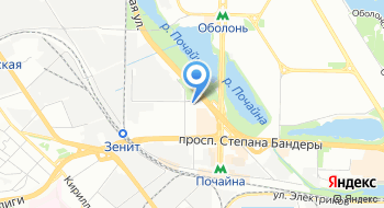 Линза на карте