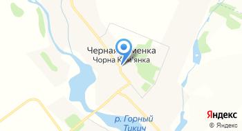 Черная Каменка на карте