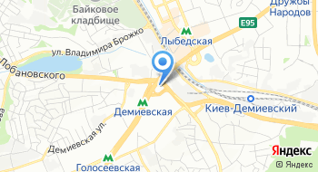 Центральный автовокзал Киев на карте