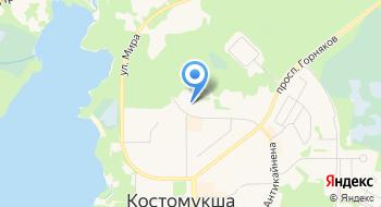 Отделение почтовой связи Костомукша 186930 на карте