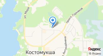 Костомукшская Городская больница отделение платных услуг на карте