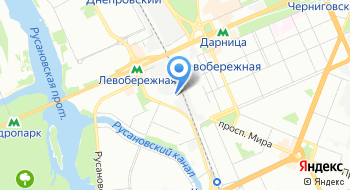 Спорткомплекс Левобережный на карте