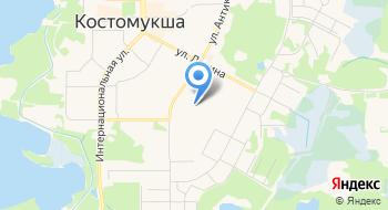 Отделение почтовой связи Костомукша 186931 на карте