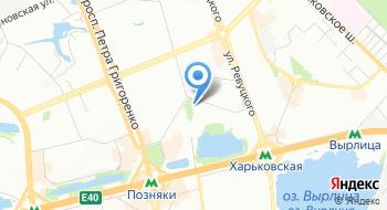 Управление Государственной казначейской службы Украины в Дарницком районе города Киева на карте