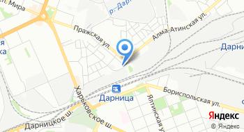 Киевский центр военизированной охраны регионального филиала Украинской железной дороги на карте